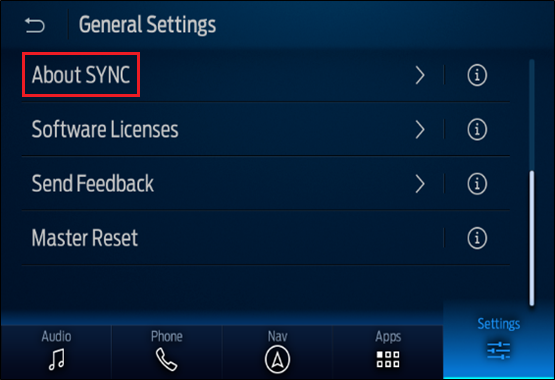About SYNC button