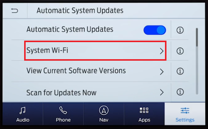 SYNC 3 Automatic Updates System wifi