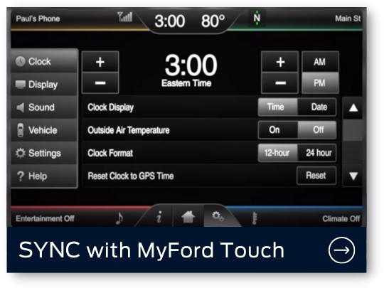 SYNC MyFord Touch