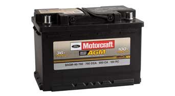 Motorcraft AGM battery