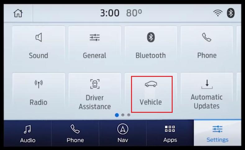 SYNC 3 vehicle tab