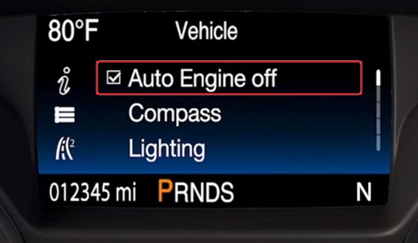 Auto Engine Off