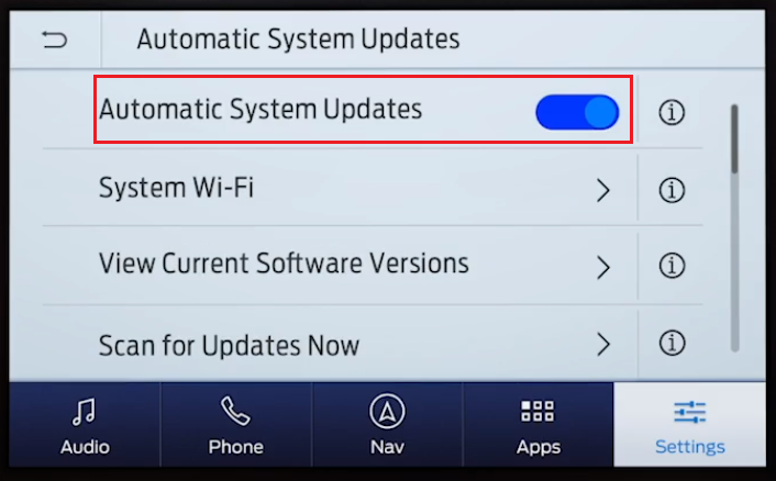 SYNC 3 Automatic System Updates on